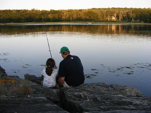Teaching Allie to fish