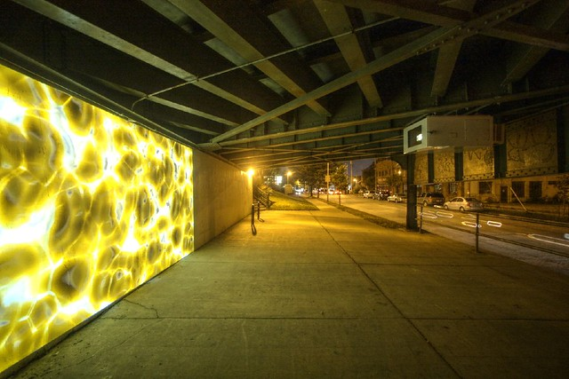 Under the Holton Street Bridge