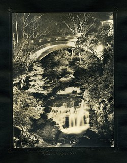Floodlit Chelmsford Bridge and Leura Cascades