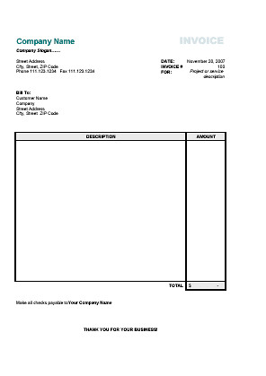 word invoice template calculates total – residers, Invoice templates