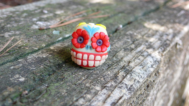 Gaspar the Day of the Dead Glow-In-The-Dark Skull