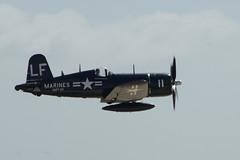 aviation, military aircraft, airplane, propeller driven aircraft, vehicle, vought f4u corsair, flight, air show,