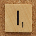 Wood Scrabble Tile I