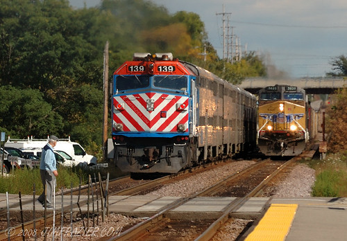 railroad blue red people man silly male up yellow electric danger walking landscape illinois idiot dangerous october highway scenery walks commerce mechanical geneva diesel dumb rear scenic railway trains headlights equipment business machinery commercial engines transportation stupid lincoln infrastructure nervous unionpacific commuter commuting passenger machines kanecounty kane rearview metra shipping 2008 walkers freight wedge q3 apparatus locomotives goingaway wedgie devices wary lincolnhighway watchful toorganize dieselelectric armouryellow ditchlights unionpacificrailroadcompany tostategroup genevaarea 20081003genevatrains
