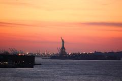 Miss Liberty @ Sunset