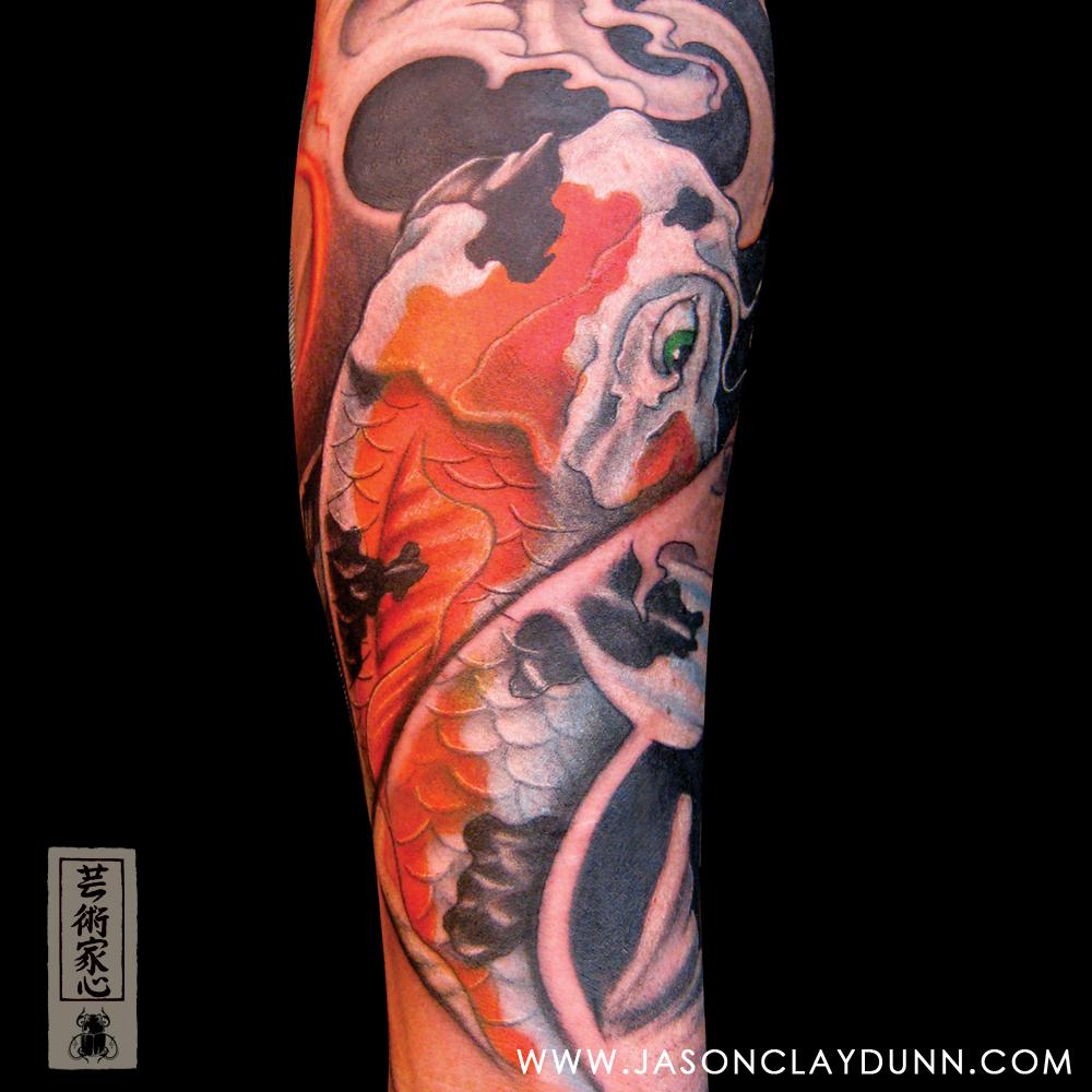 Koi carp fish tattoo japanese jason dunn 001 flickr for Japanese carp tattoo