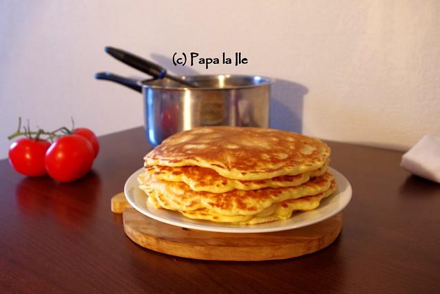 Pancakes cu cascaval si sunca (5)