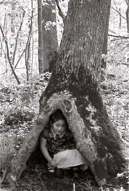 Sophia in Gnome House in Tree
