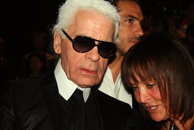 Monsieur Karl Lagerfeld au défilé Dior Homme
