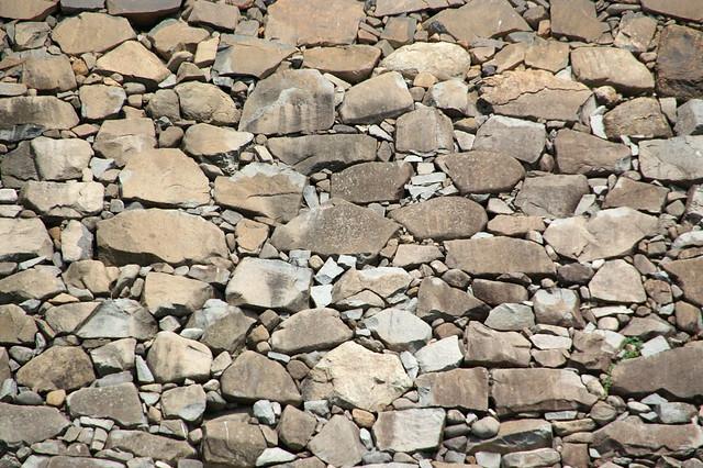 Detalle de un muro de piedra del castillo de Matsumoto. Prefectura de Nagano. Japón.
