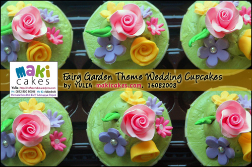 Fairy Garden Theme Wedding Cupcakesdetail1 Maki Cakes