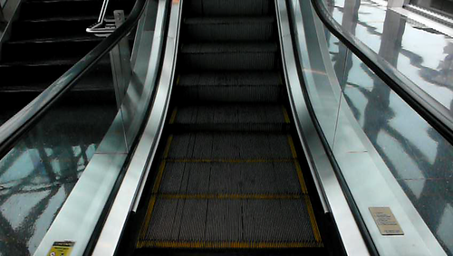 escalator music - logan airport
