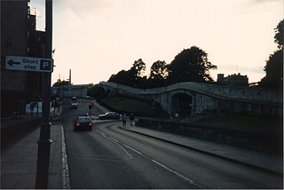 Image of City Walls. york uk summer vacation england tour unitedkingdom britain 1987 yorkshire tourist scan september scanned scannedphoto summervacation northyorkshire citywall september5 americantourist