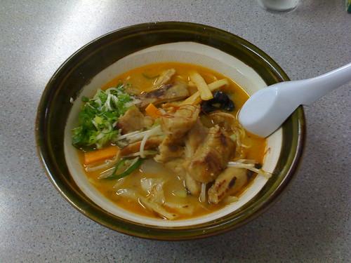 昼飯。モルメンみそ@旭川ひまわり。