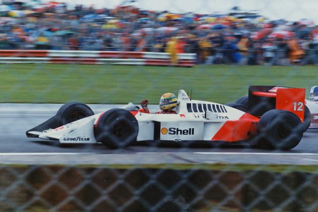 Ayrton Senna Mclaren Honda MP4/4 F1 1988 British GP Silverstone