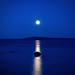 moon reflections on blue