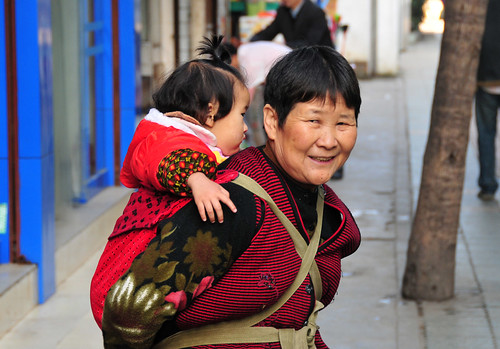 Chengdu - Grandmother and grandchild