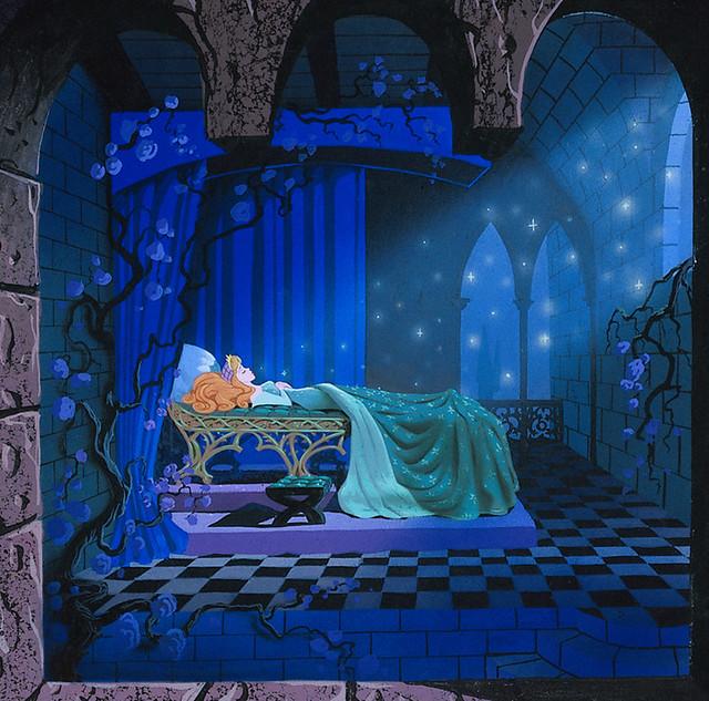 Sleeping Beauty Castle diorama concept