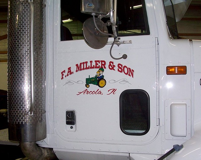 Fa miller truck lettering flickr photo sharing for Semi truck lettering ideas