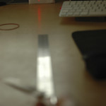 Playing with laser pointer - diffraction grating