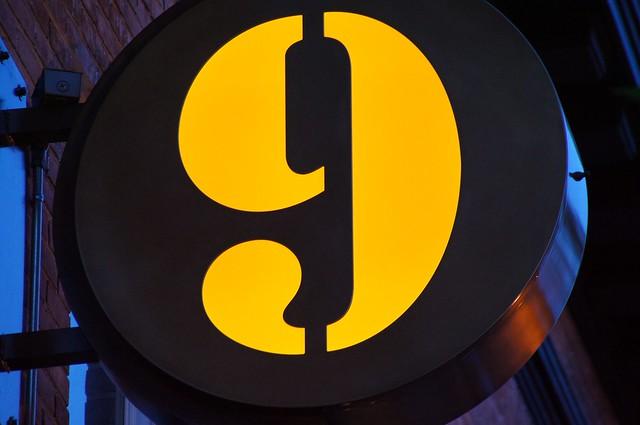 Number 9 Sign