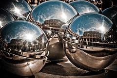 world, sphere, light, fisheye lens,