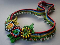 Trifolium Dubium Freeform Crochet Necklace