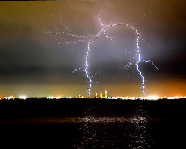 Lightning over Mobile, Alabama