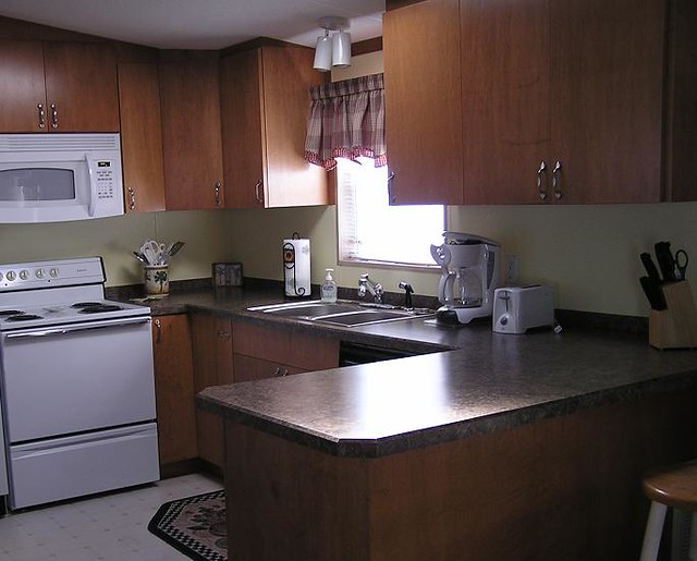 mobile home kitchen maple cabinets flickr photo sharing