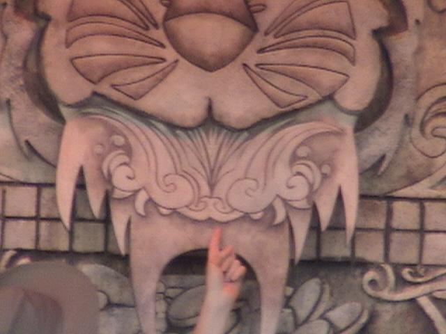 Indiana Jones™ and the Secret of the Stone Tiger Revealed!, Aladdin's Oasis, Adventureland, Disneyland®, Anaheim, California, 2008.05.26 15:22