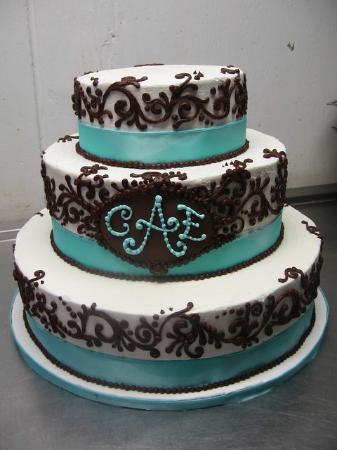 tiffany chocolate wedding cake