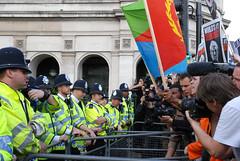 President Bush visits London-demo