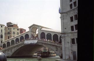 Image of Rialto Bridge near Venice. 2001 bridge venice venezia rialto june2001