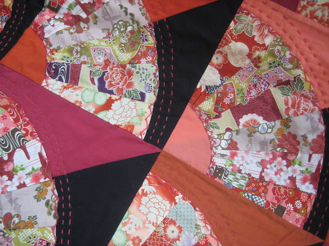 Japanese Fan Quilt http://www.flickr.com/photos/27057680@N05/2618457608/