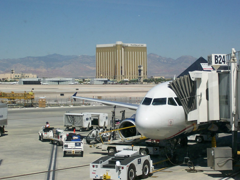 US Airways A319 at Las Vegas Airport