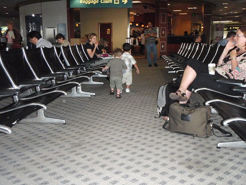 Toddlers on the loose at the airport