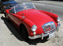 automobile, jaguar xk120, vehicle, performance car, automotive design, mg mga, antique car, classic car, vintage car, land vehicle, luxury vehicle, sports car,