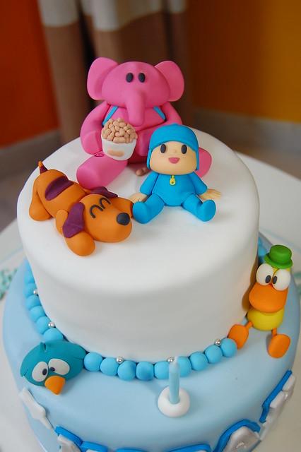 Pocoyo Theme Birthday Cake Pocoyo And Friends Ready To