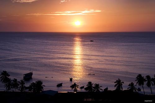 ocean sea sun sol sunrise relax atardecer mar cool venezuela palmeras margarita isla ocaso oceano nuevaesparta juangriego golddragon excapture