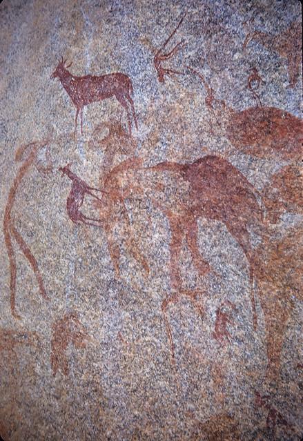 San rock painting, Rodia, near Epworth, Zimbabwe