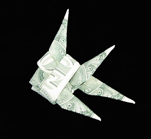 Dollar bill origami money origami fish for Dollar bill origami fish