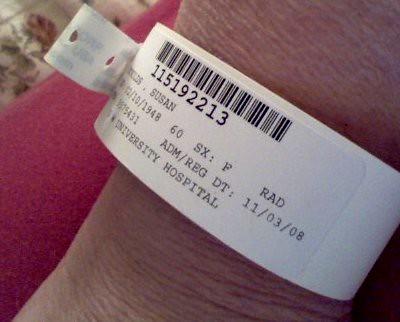 Hospital Bracelet - MRI at GWU | Flickr - Photo Sharing!