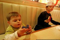 brothers enjoying the krispy kreme doughnut vote pro…