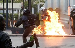 Petrol Bomb Greece Riots by photoneilnet