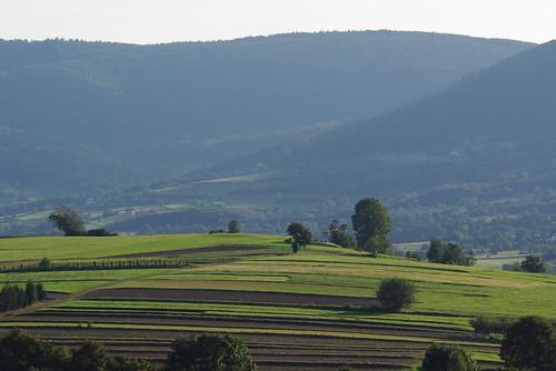 summer west view poland hills