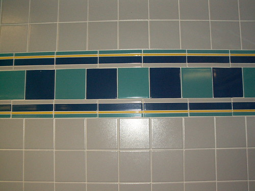 TTC north Restrooms - Tile Stripe Detail