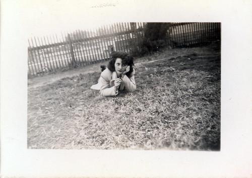 Gladys on grass