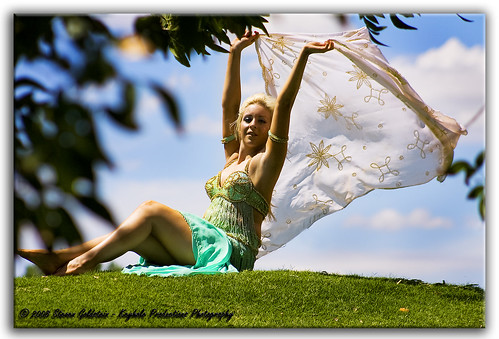 sexy green girl smile canon pretty wind goddess bellydancer dancer blond sia canonef75300mmf456iii keyholeproductionsphotography lightintgessentialsworkshops keyholeproductionsportfolio