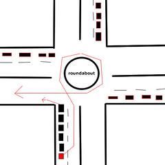Beat traffic at roundabouts