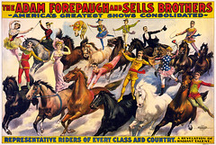 Representative riders of every class and country, poster for Forepaugh & Sells Brothers, 1900